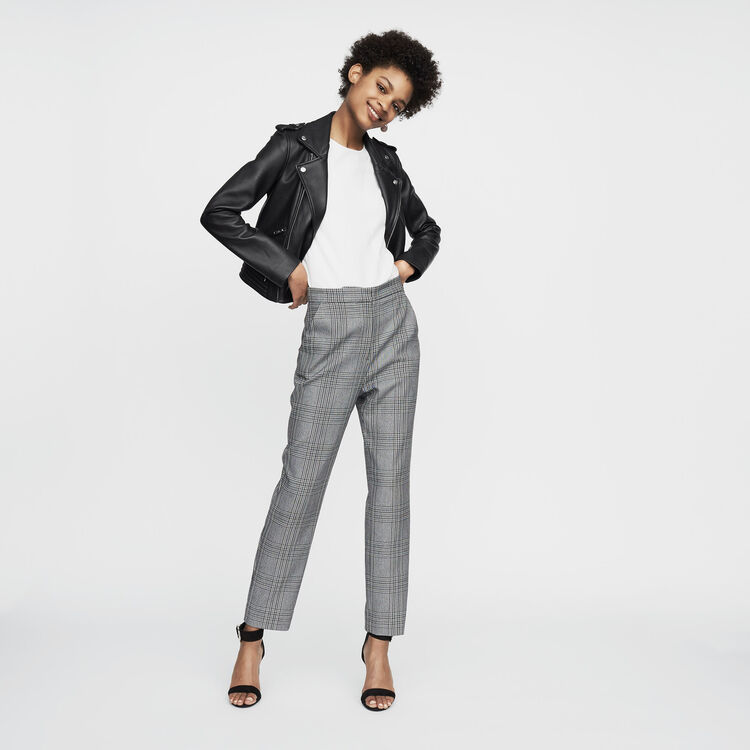 Leather jacket : Office Chic color Black 210