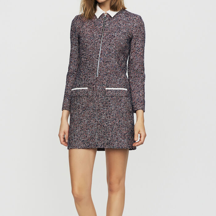 65a484ada709 RIBERTY Tweed shirt dress - Dresses - Maje.com