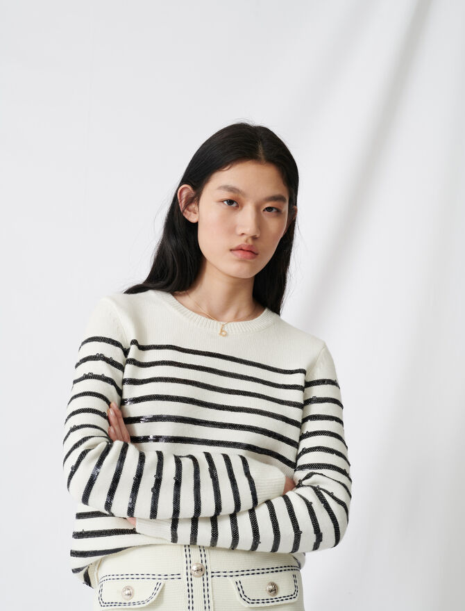 Breton sweater with sequins - Sweaters - MAJE