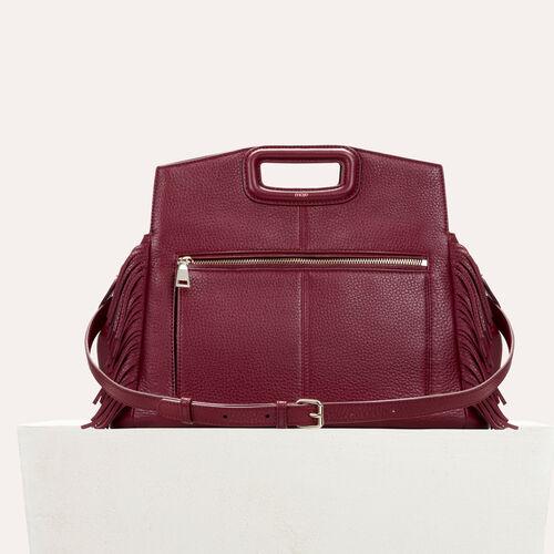 Leather shoulder bag : See All color Black 210