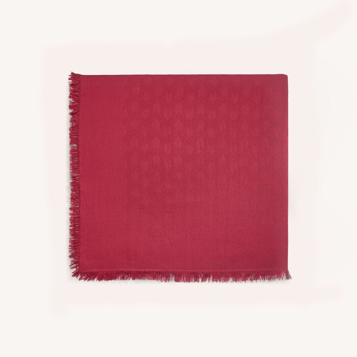 Cotton blend shawl : Scarves color Raspberry