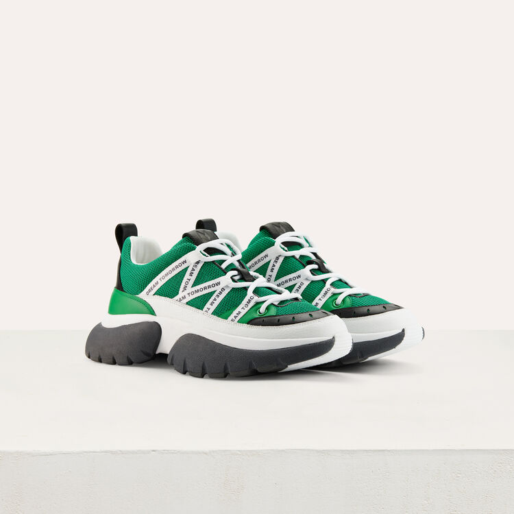 W20 Urban sneakers in nylon : Shoes & Accessories color Green