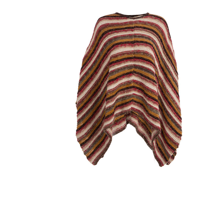 Oversized jacquard poncho : Copy of Sale color