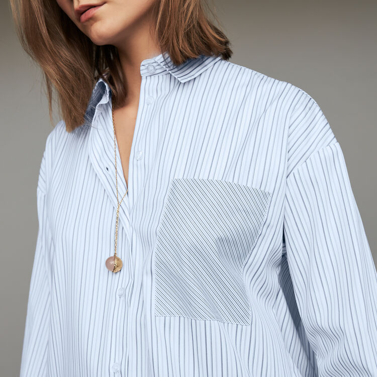 Cotton striped shirt : Tops & Shirts color Stripe