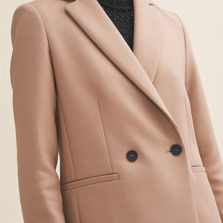 Mid-length tailored jacket : Coats & Jackets color Camel