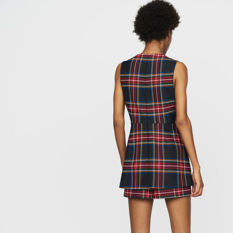 Plaid romper with faux-skirt : Jumpsuits & Rompers color CARREAUX