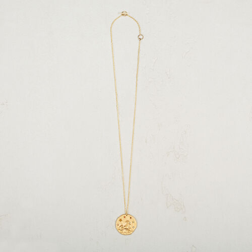 Capricorn zodiac sign necklace : Jewelry color GOLD