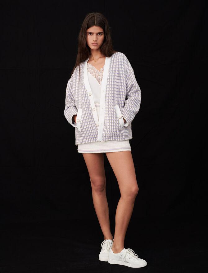 Tweed cardigan-inspired jacket - Coats & Jackets - MAJE