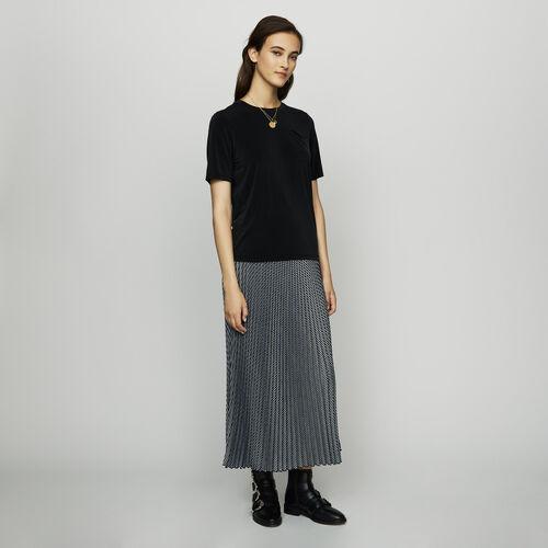 Cupro T-shirt : Tops & T-Shirts color Black 210