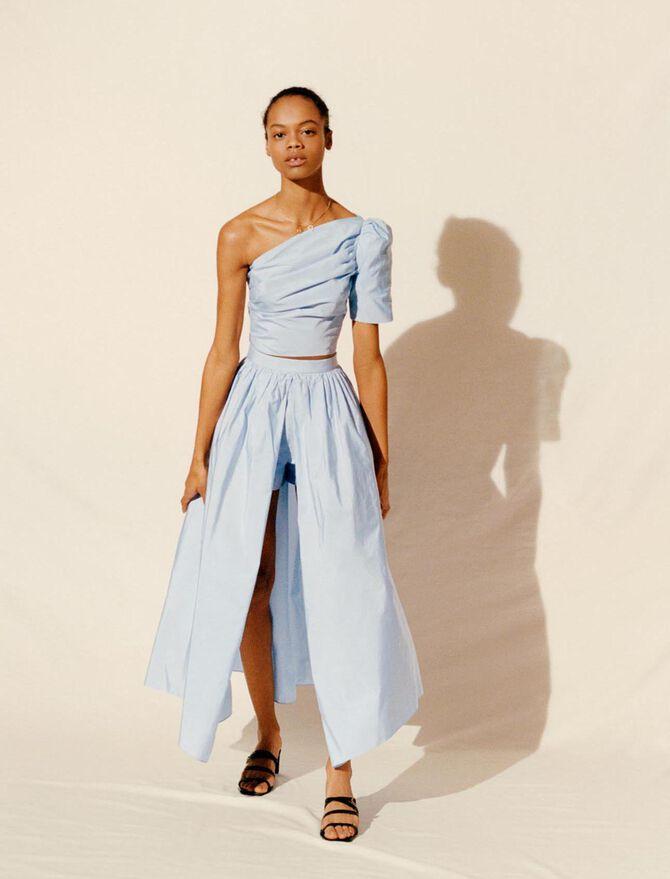 Taffeta slip-style culottes - Skirts & Shorts - MAJE