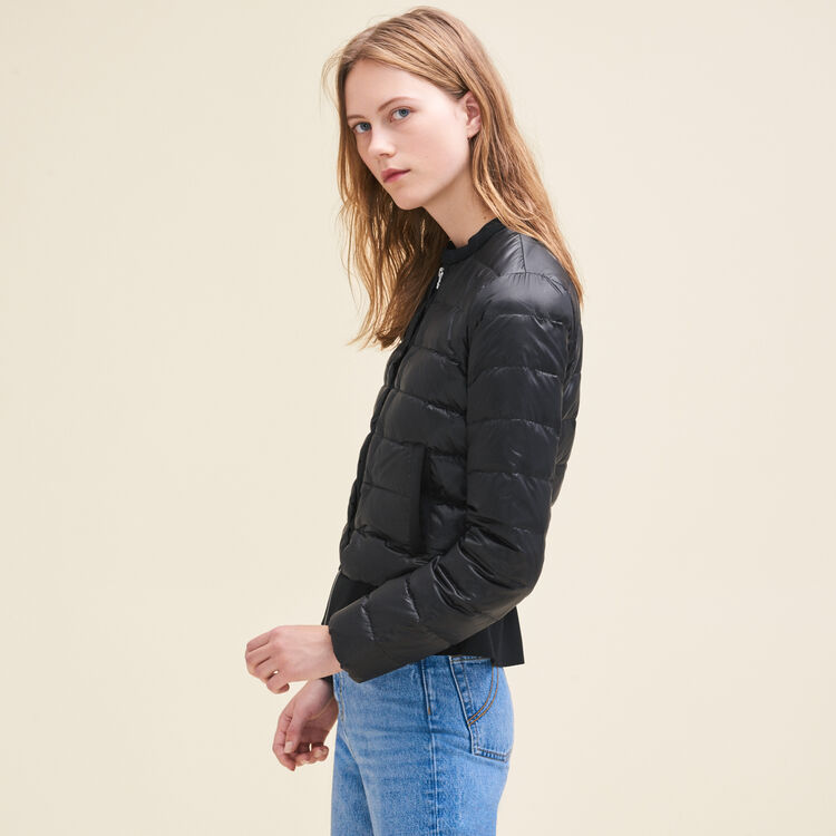 Lightweight down jacket with peplum : See All color