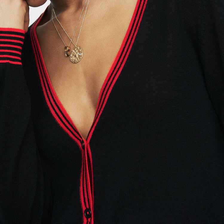 6c2d14f805 Fine knit merino wool cardigan