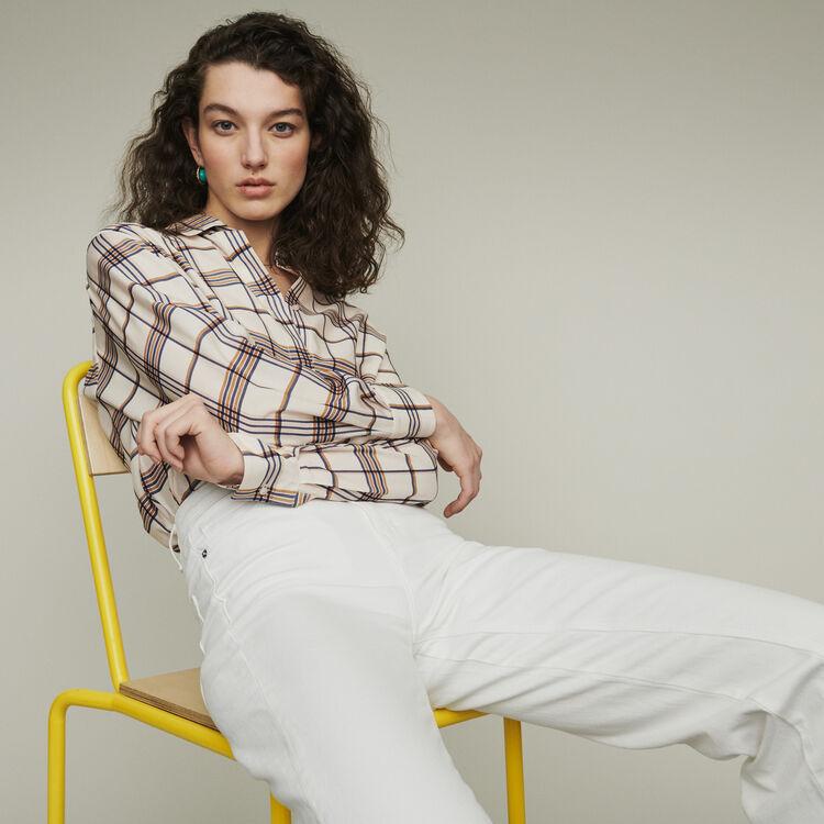 Plaid loose shirt : Tops & T-Shirts color CARREAUX