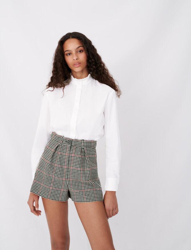 Poplin shirt with rhinestone collar - Tops & T-Shirts - MAJE