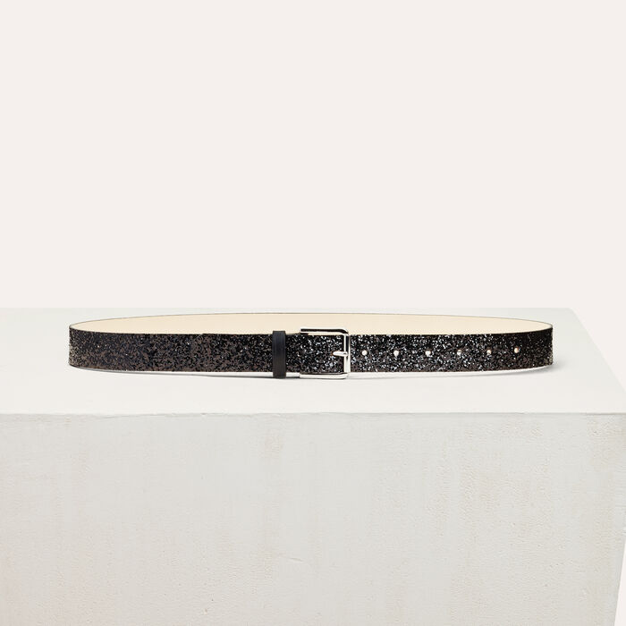 Sequinned belt -  - MAJE