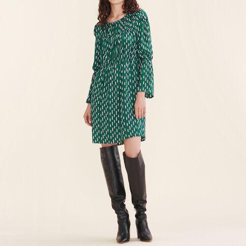 Floaty printed dress - Dresses - MAJE