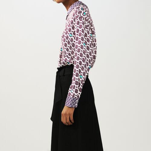 Printed satin top : Tops & T-Shirts color PRINTED