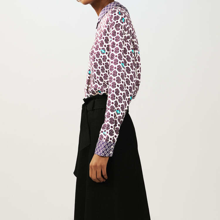 Printed satin top : Tops & Shirts color PRINTED