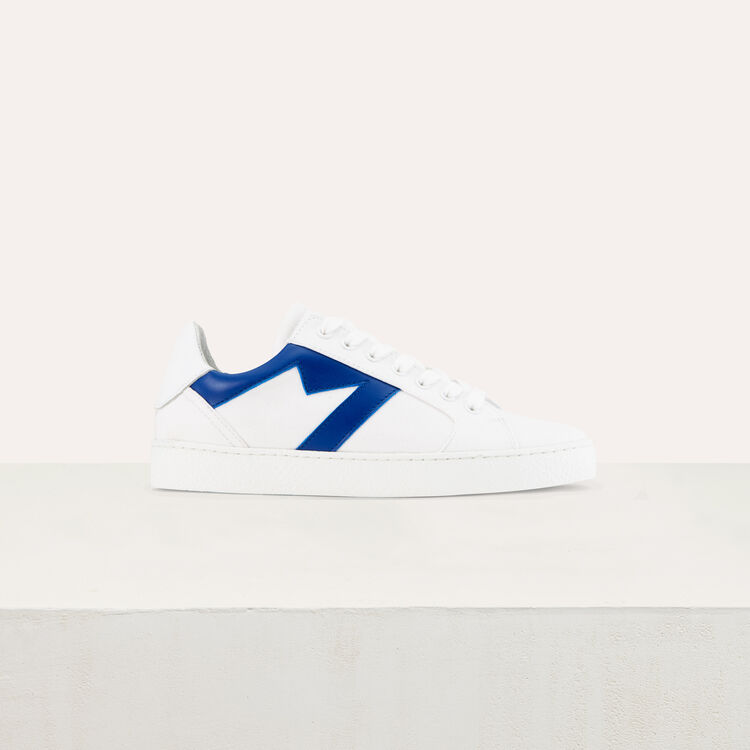 Sneakers with M insert : Shoes & Accessories color Blue
