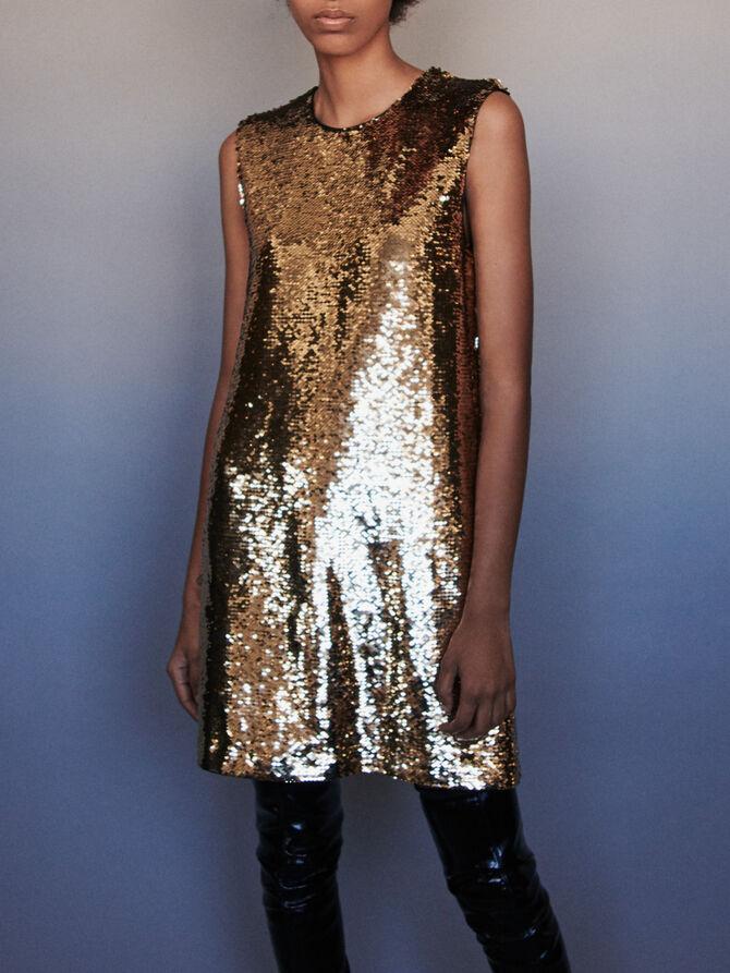 Sequin shift dress - Dresses - MAJE