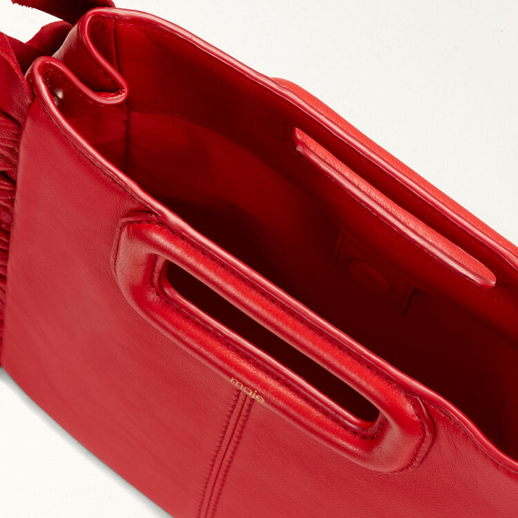 FRILLED M BAG : M Bags color Red