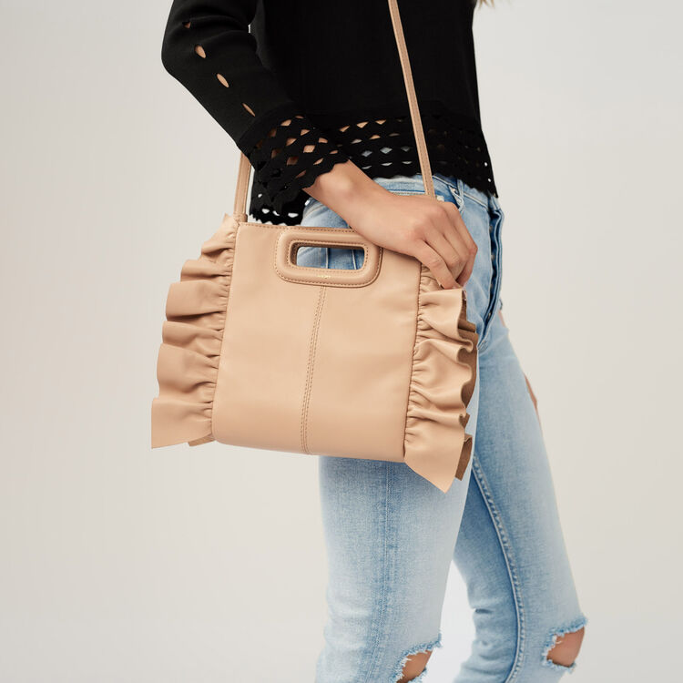 FRILLED M BAG : Shoes & Accessories color Nude