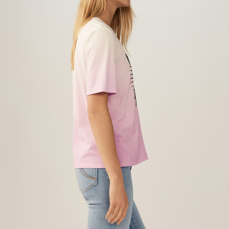 T-shirt with embroidered butterfly : Tops & T-Shirts color PURPLE