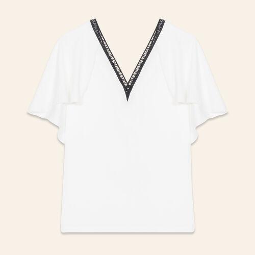 Loose crêpe top - Tops & T-Shirts - MAJE
