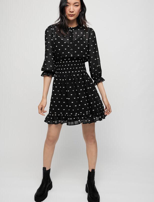 Maje Short bow jacquard dress
