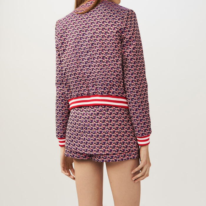 Cropped jacquard jacket : Coats & Jackets color Jacquard