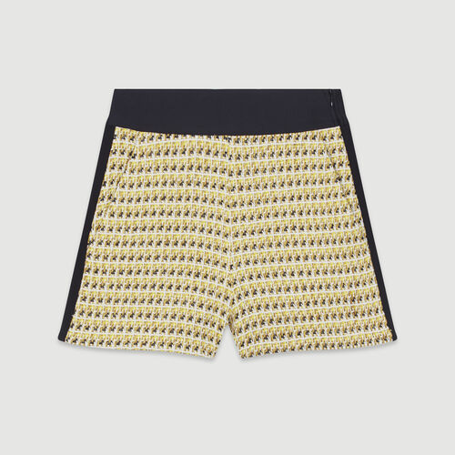 Shorts in tweed and lurex : New in: Spring Collection color Yellow