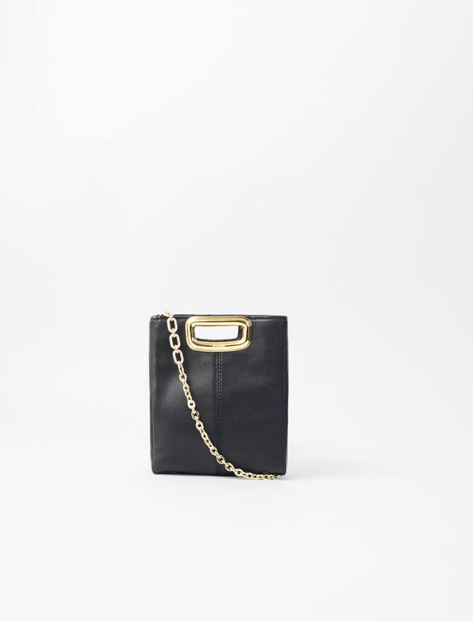 Mini leather and goldtone M Skin bag - M Skin - MAJE