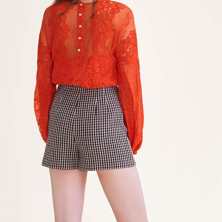 Lace top : Tops & Shirts color Orange