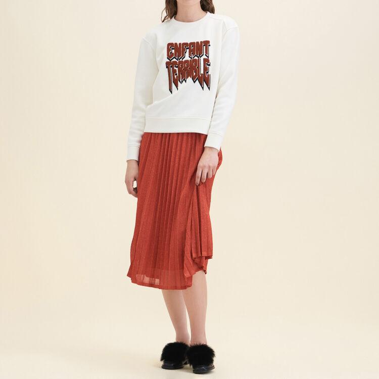 Neoprene Sweatshirt : Sweaters color Ecru