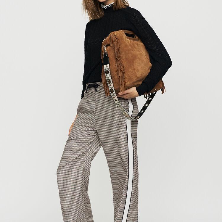 Elastic waist plaid pants : Pants & Jeans color CARREAUX