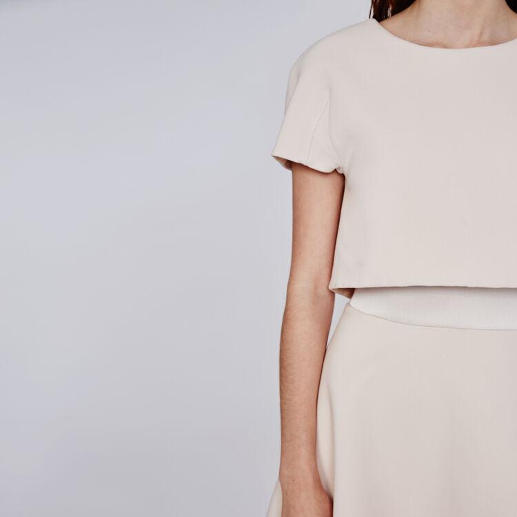 Crepe optical illusion dress : Copy of Sale color