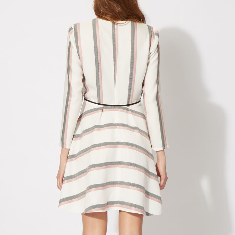 Striped flared dress : The Zoe Report color