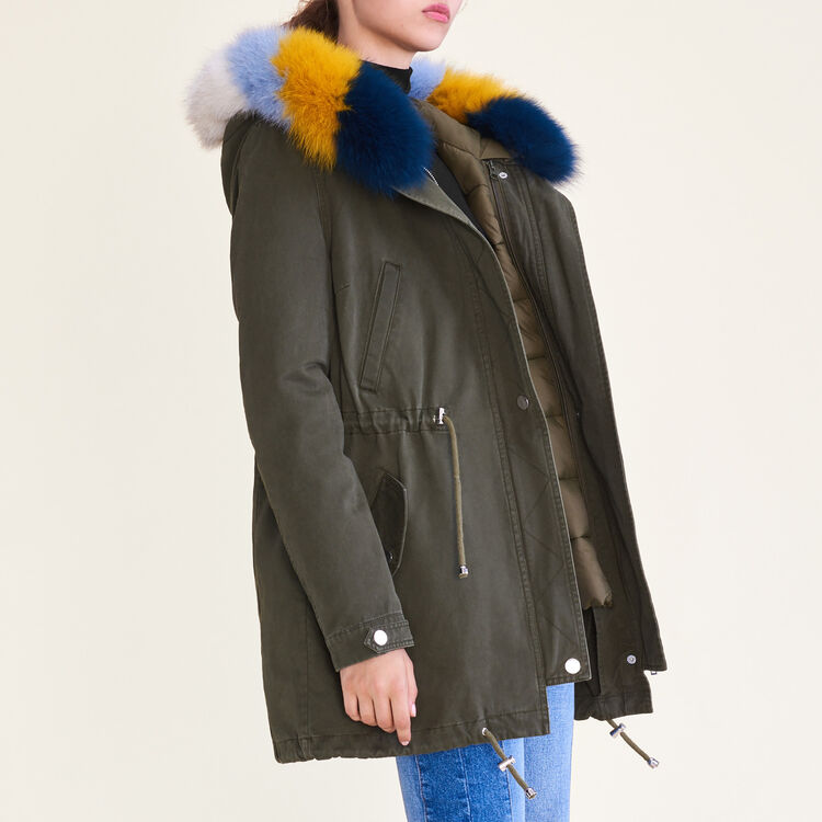 Parka with removable lining : null color