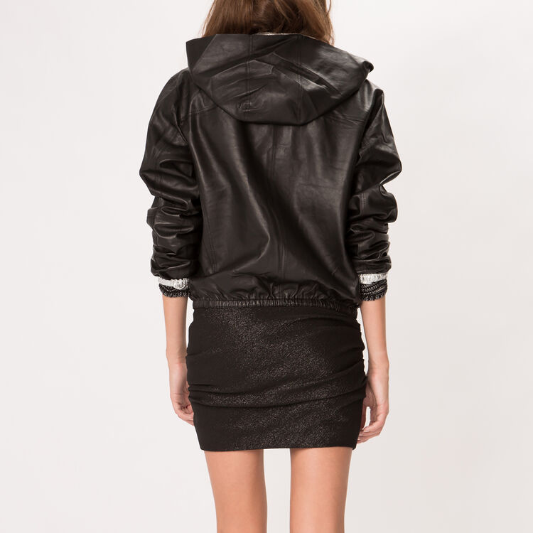 Reversible lambskin leather jacket : null color