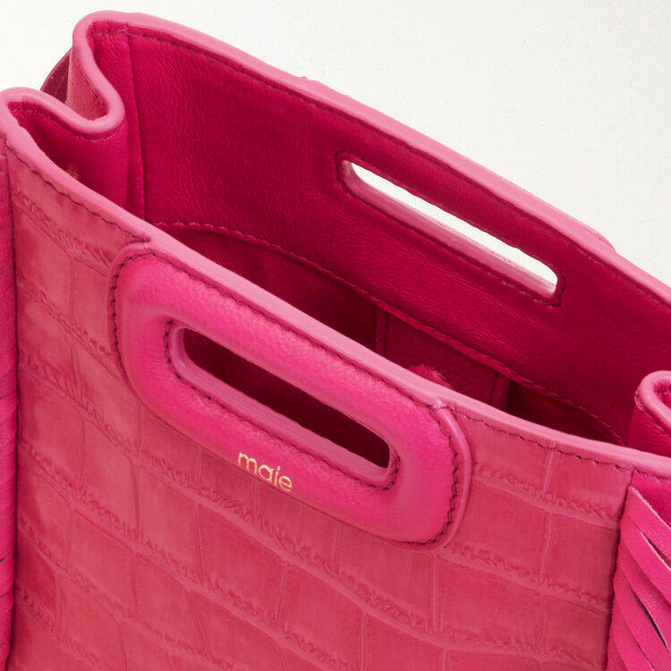 Mini M bag with fringe : M Mini color Pink