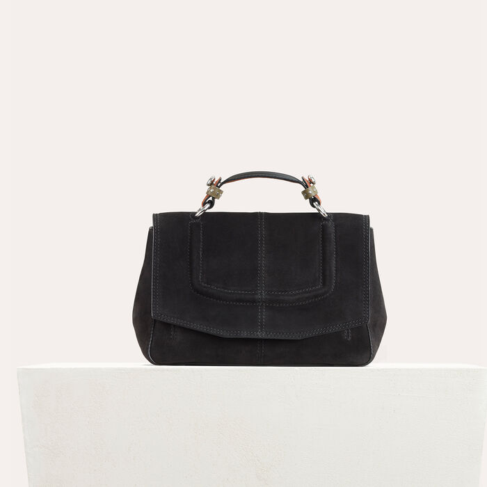 Mini satchel in two-tone suede : Shoes & Accessories color Black 210