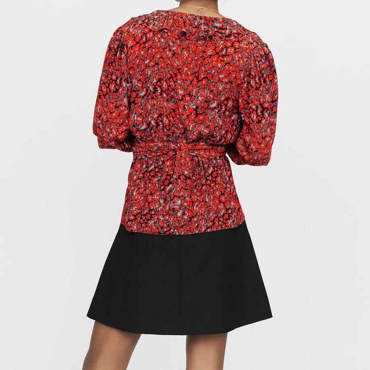 ee549f7ee700e LITO Leopard print blouse - Tops   Shirts - Maje.com
