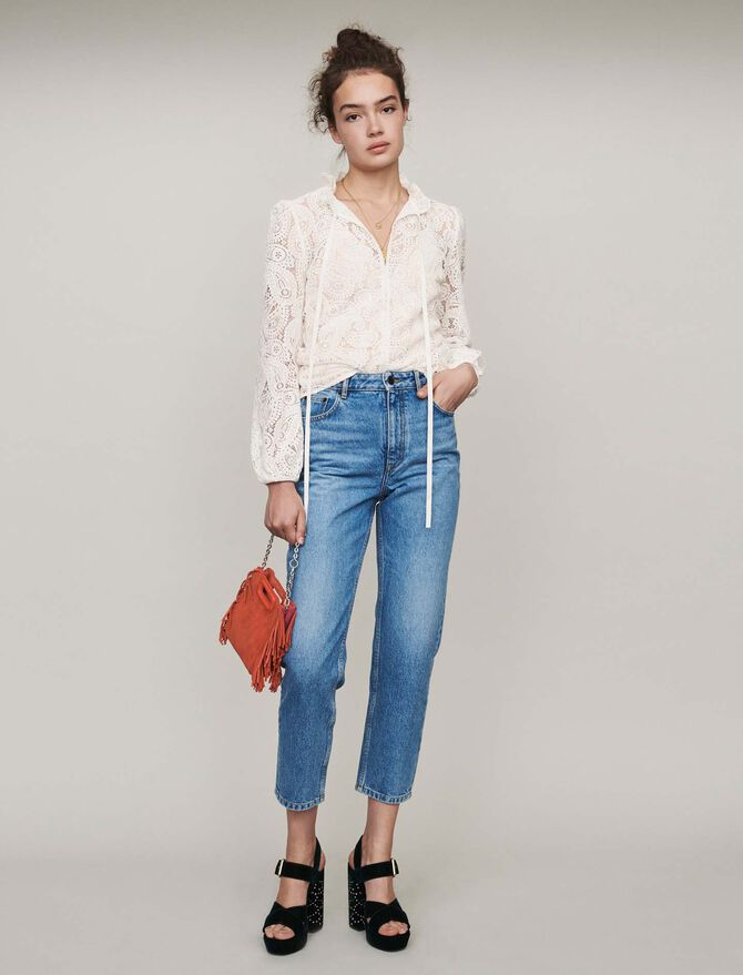 High-waisted jeans -  - MAJE