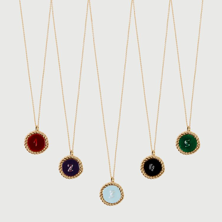 Number 1 medallion : Jewelry color GOLD