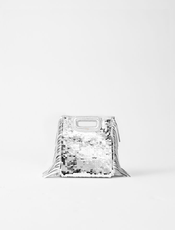 M mini bag leather and sequins -  - MAJE