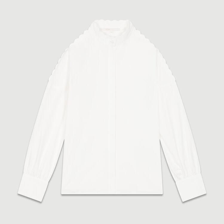 Bare shoulder cotton shirt : Tops & T-Shirts color WHITE