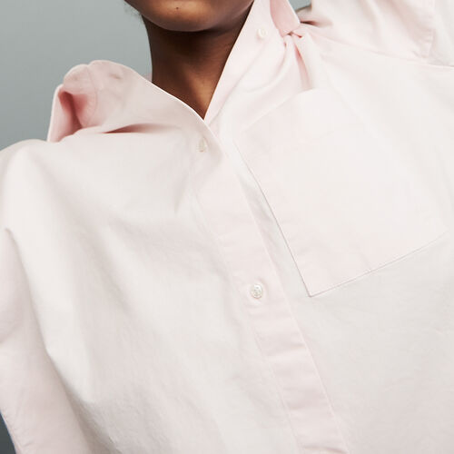 Oversized denim shirt : Tops & T-Shirts color Pale Pink