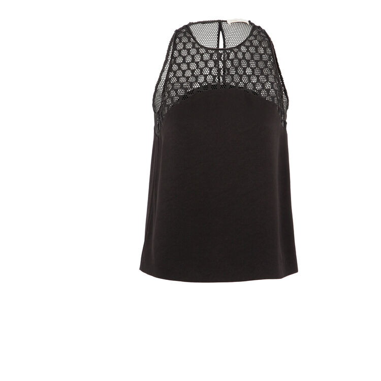 Loose top with mesh detail : Copy of Sale color