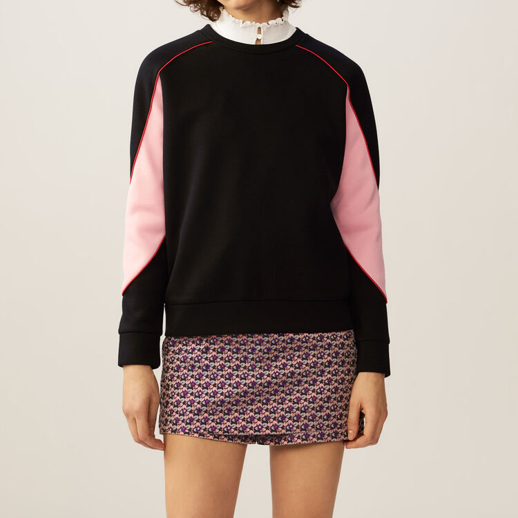 Sweatshirt with colorful details : Tops & T-Shirts color Black 210