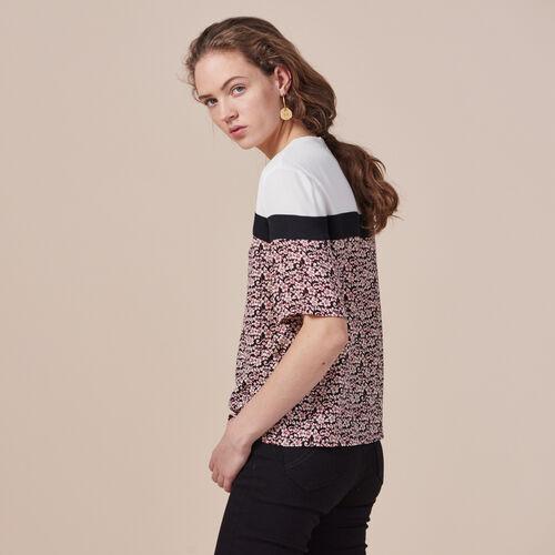 Printed tricolour top - Tops & Shirts - MAJE